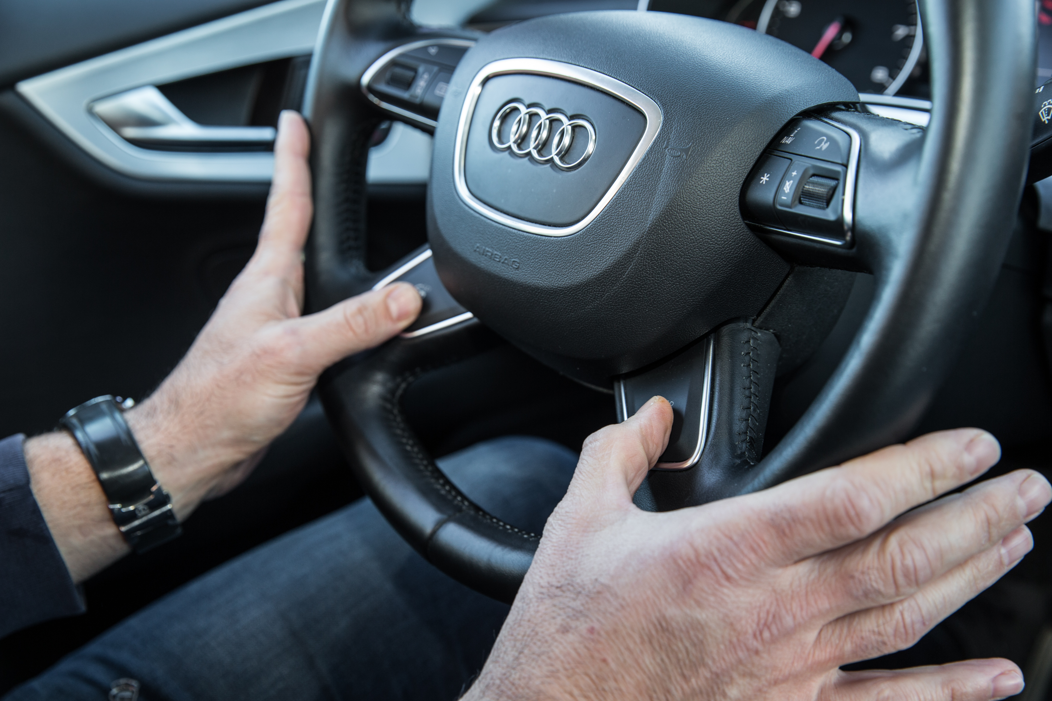 Audi S Self Driving Car Hands Off The Steering Wheel Fortune