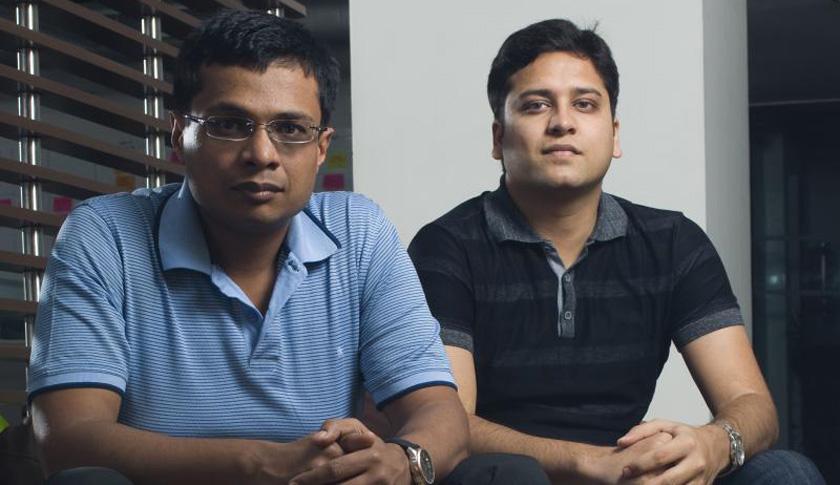 Sachin Bansal (left) and Binny Bansal (right)