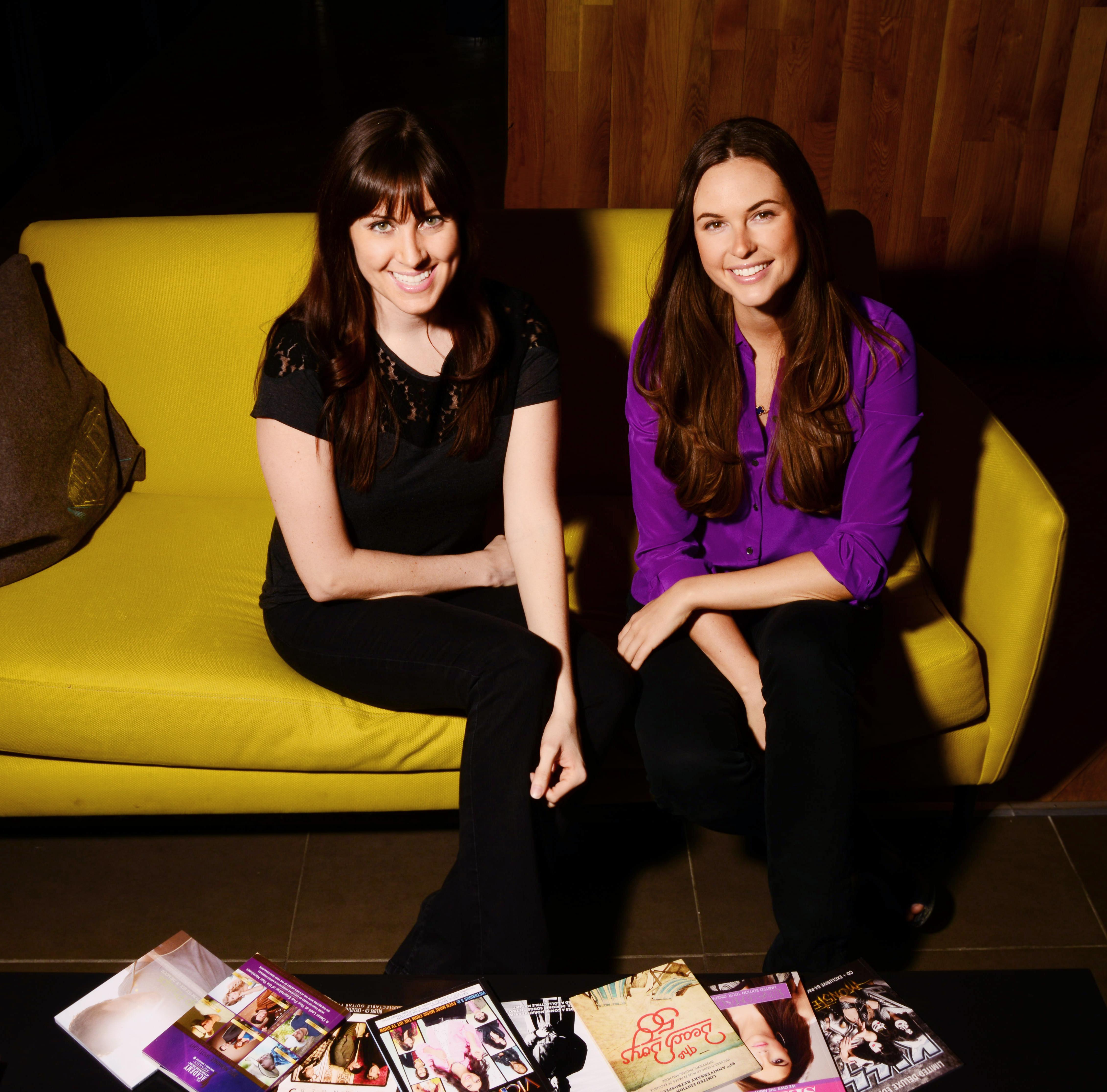 ZinePak founders Kim Kaupe and Brittany Hodak.