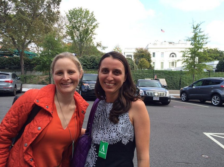 Power to Fly founders. Katharine Zaleski left and Milena Berry right.
