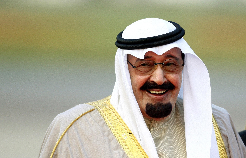 Saudi Arabia's King Abdullah arrives at Heathrow Airport in west London
