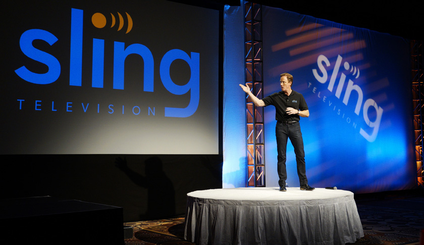 Roger Lynch, CEO of Sling TV, announces the new Sling Television streaming service by Dish during the Dish news conference at the International Consumer Electronics show (CES) in Las Vegas