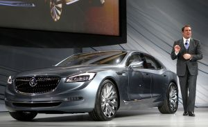 Mark Reuss introduces the Buick Avenir concept vehicle before press days of the North American International Auto Show (NAIAS) in Detroit