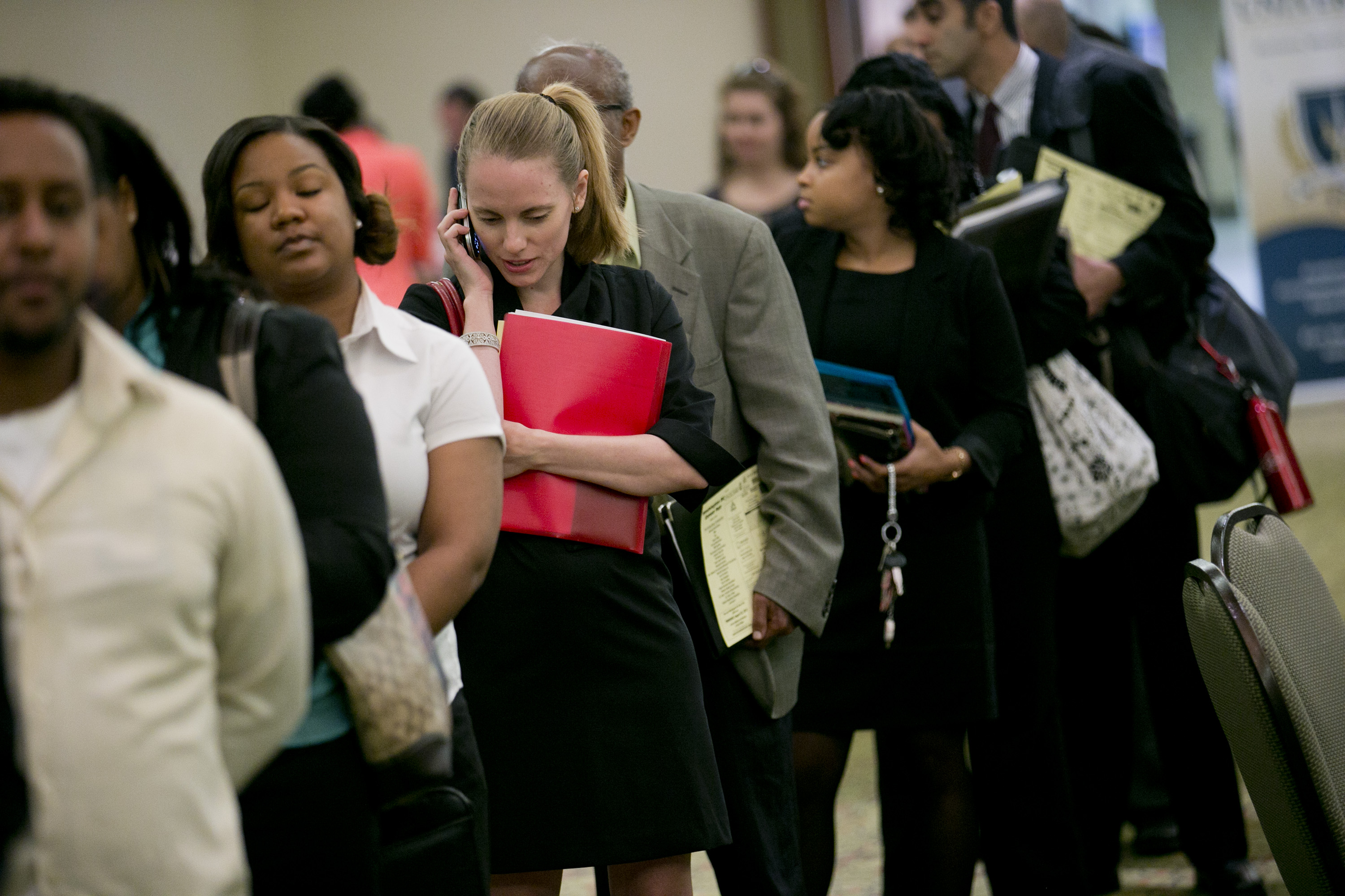 Inside A Career Fair Ahead Of Jobless Claims Figures