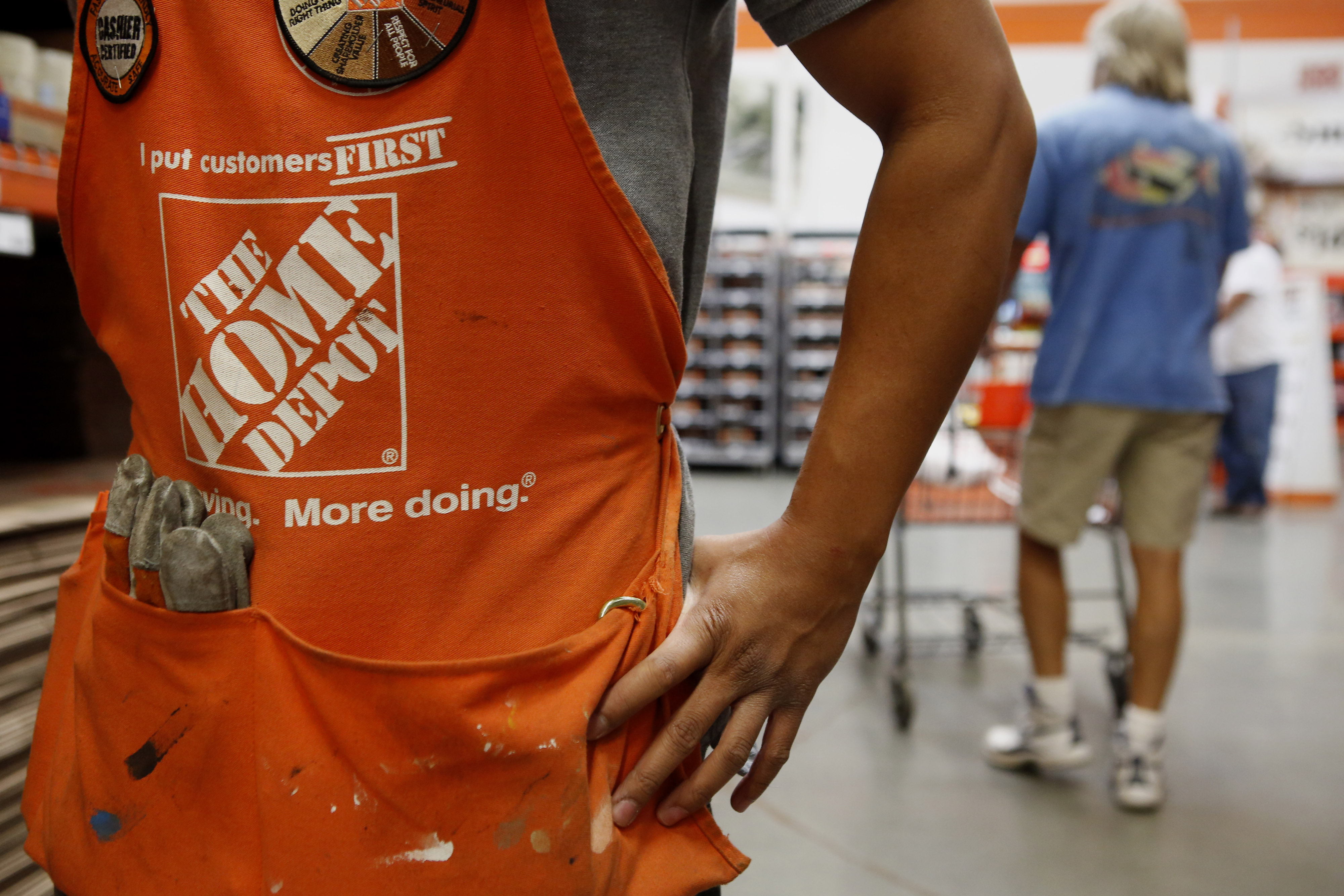 Inside A Home Depot Store Ahead Of Earnings Figures