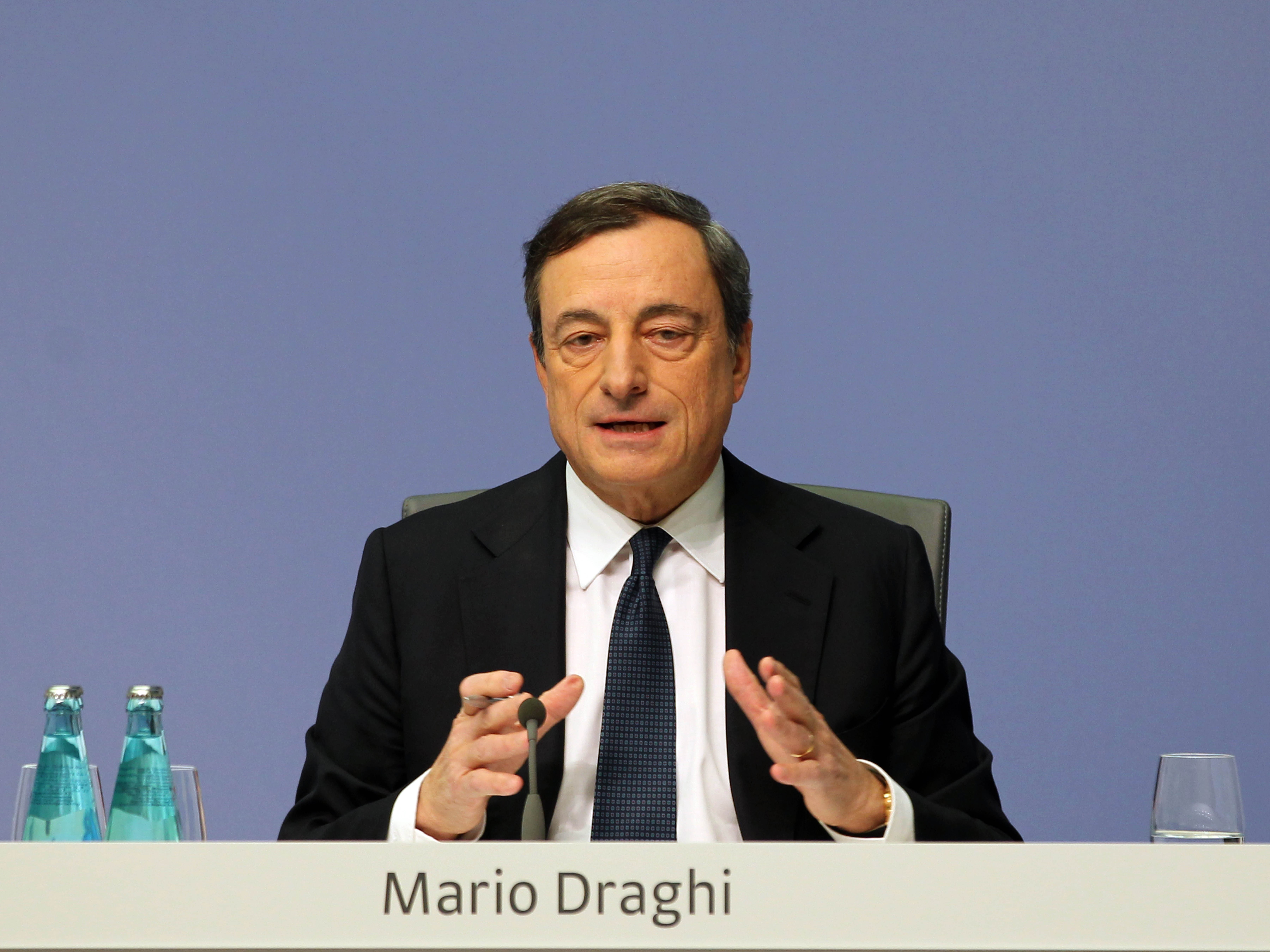 ECB President Draghi press conference