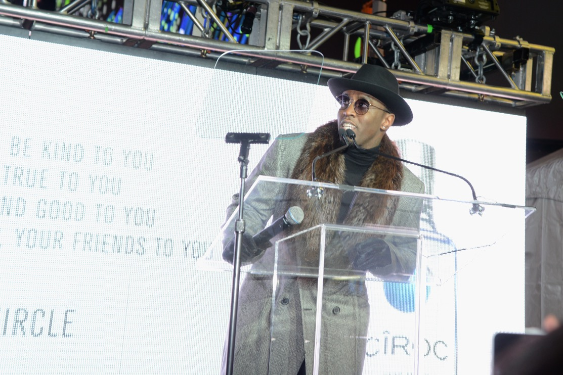 "Sean ""Diddy"" Combs at a Ciroc event in Times Square."