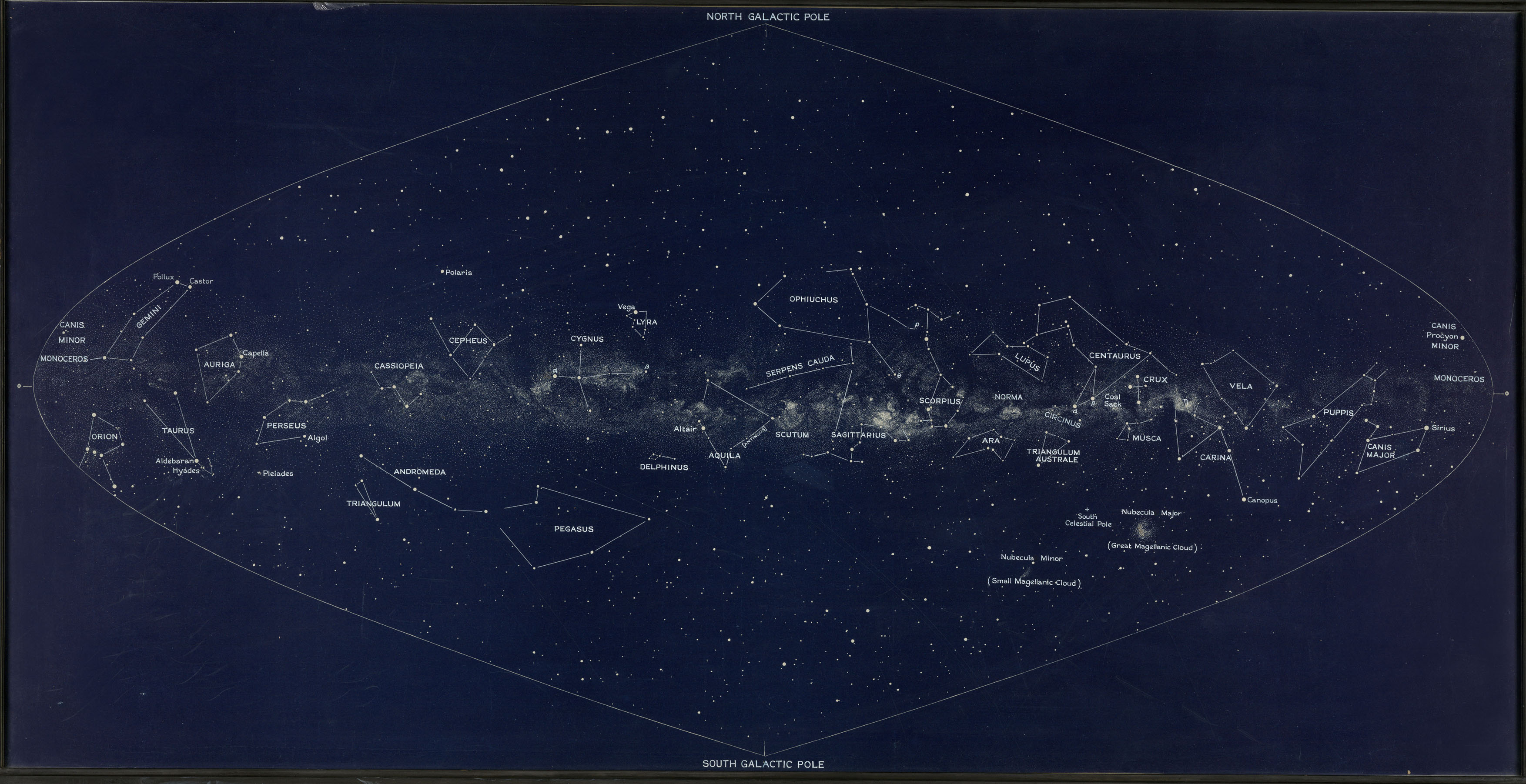 Lunkmark Milky Way map, c 1930s.