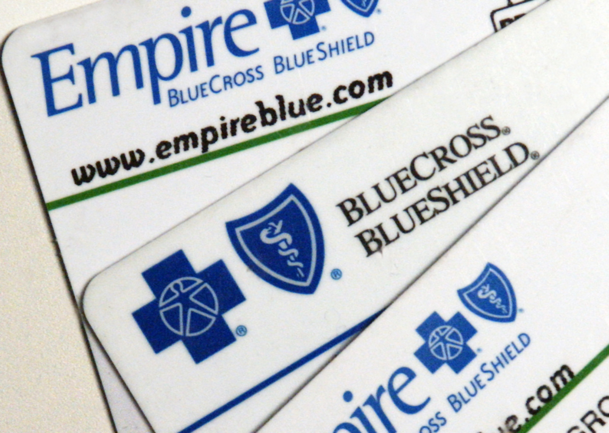 Empire Blue Cross Blue Shield health insurance card