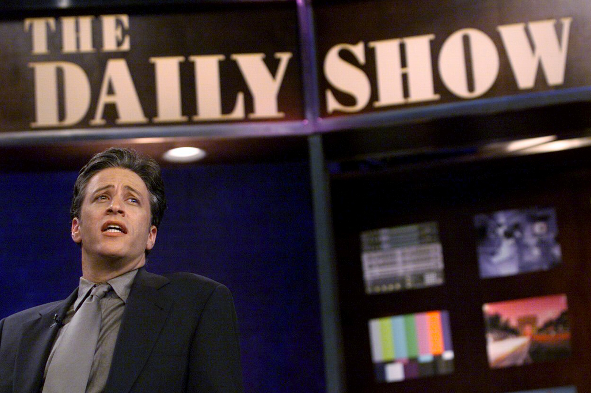 """Jon Stewart, comedian and host of """"The Daily Show,"""" rehearsi"""