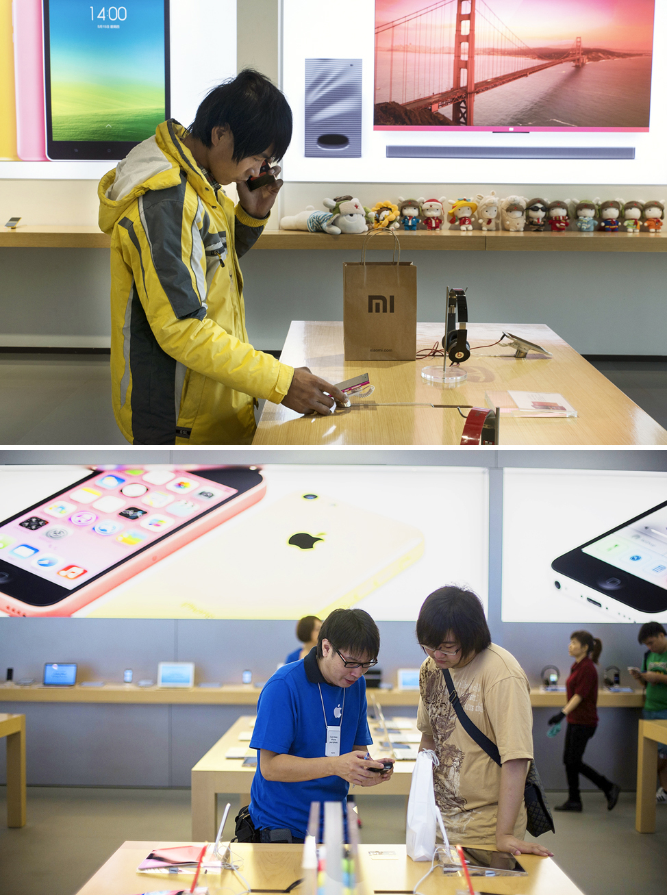 Xiaomi store, Apple Store, Chinese Cell Phone