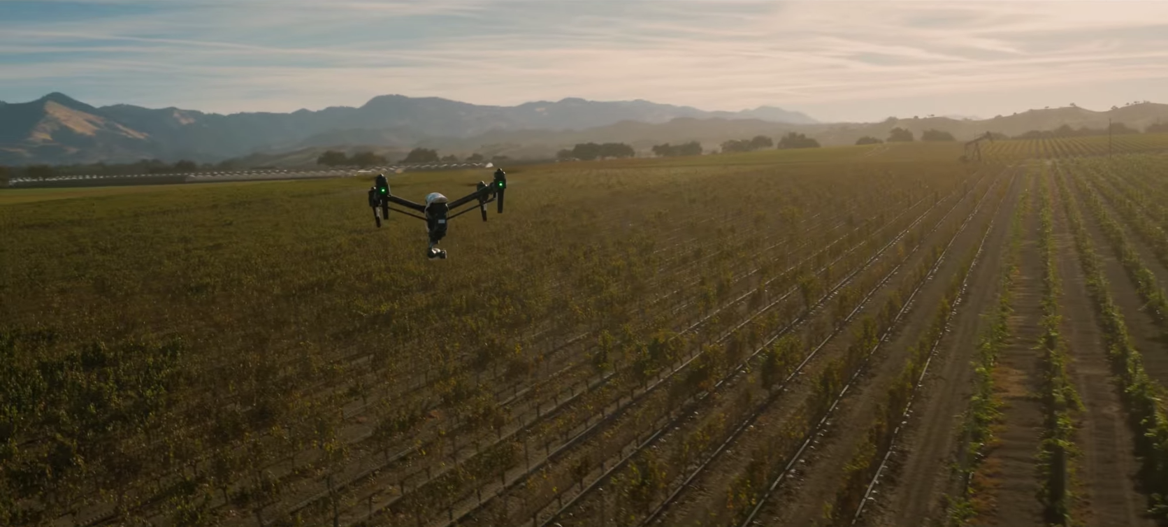 DJI Inspire 1 drone robot video screenshot