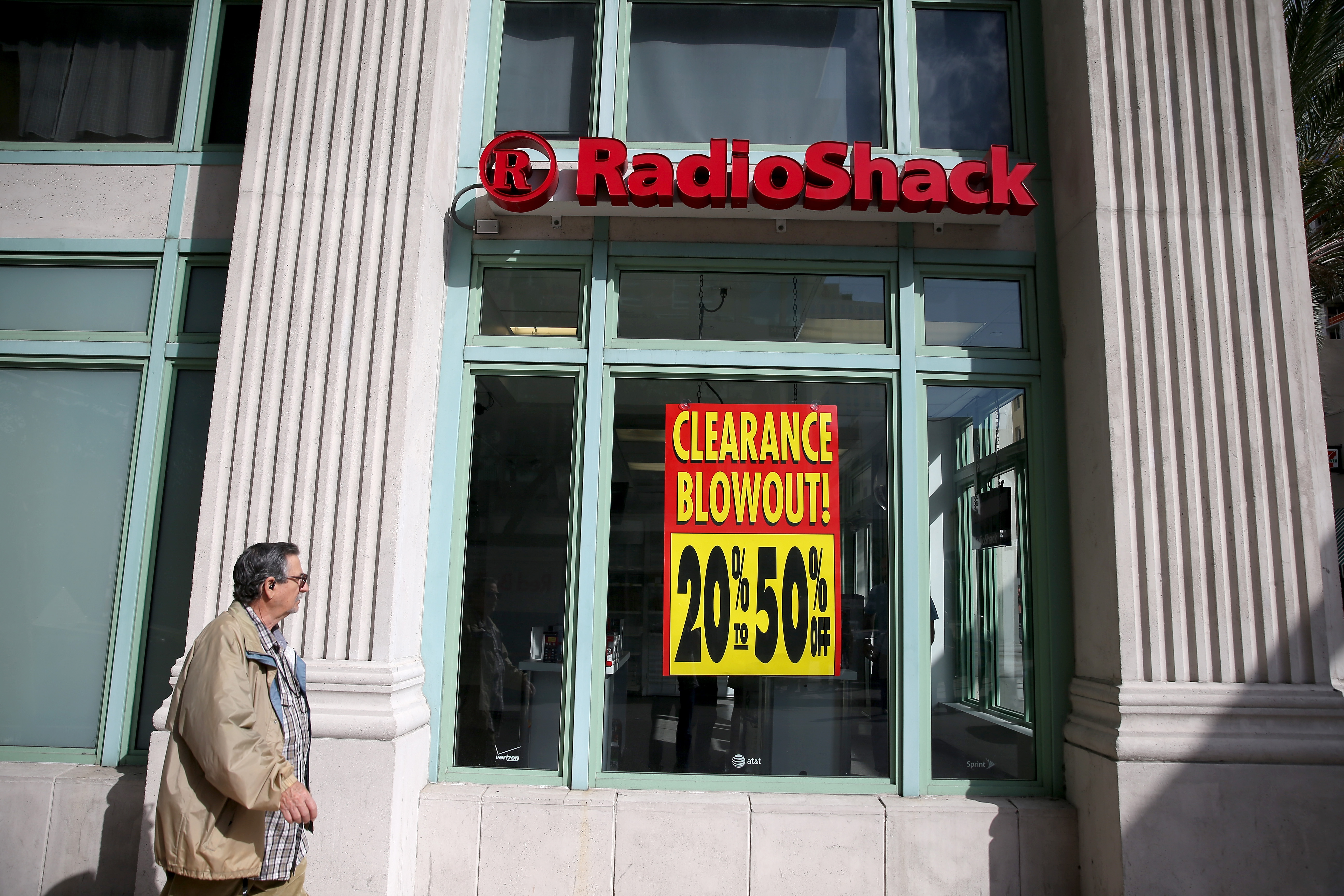 A RadioShack store in 2015, the last time the company filed for bankruptcy protection.