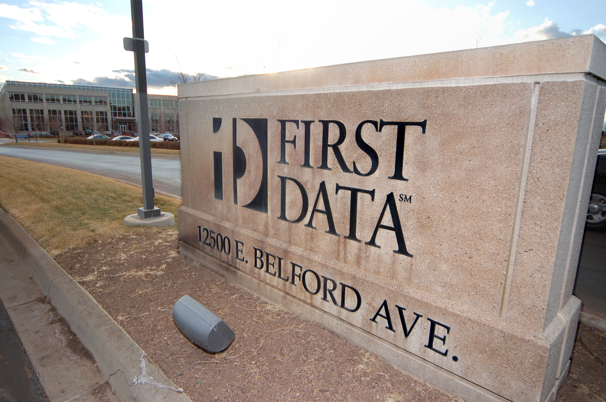 The First Data Corp. campus, south of Denver Colorado, is pi