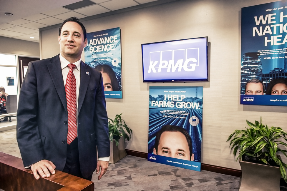 Kirt Bocox at the KPMG office in Orlando.