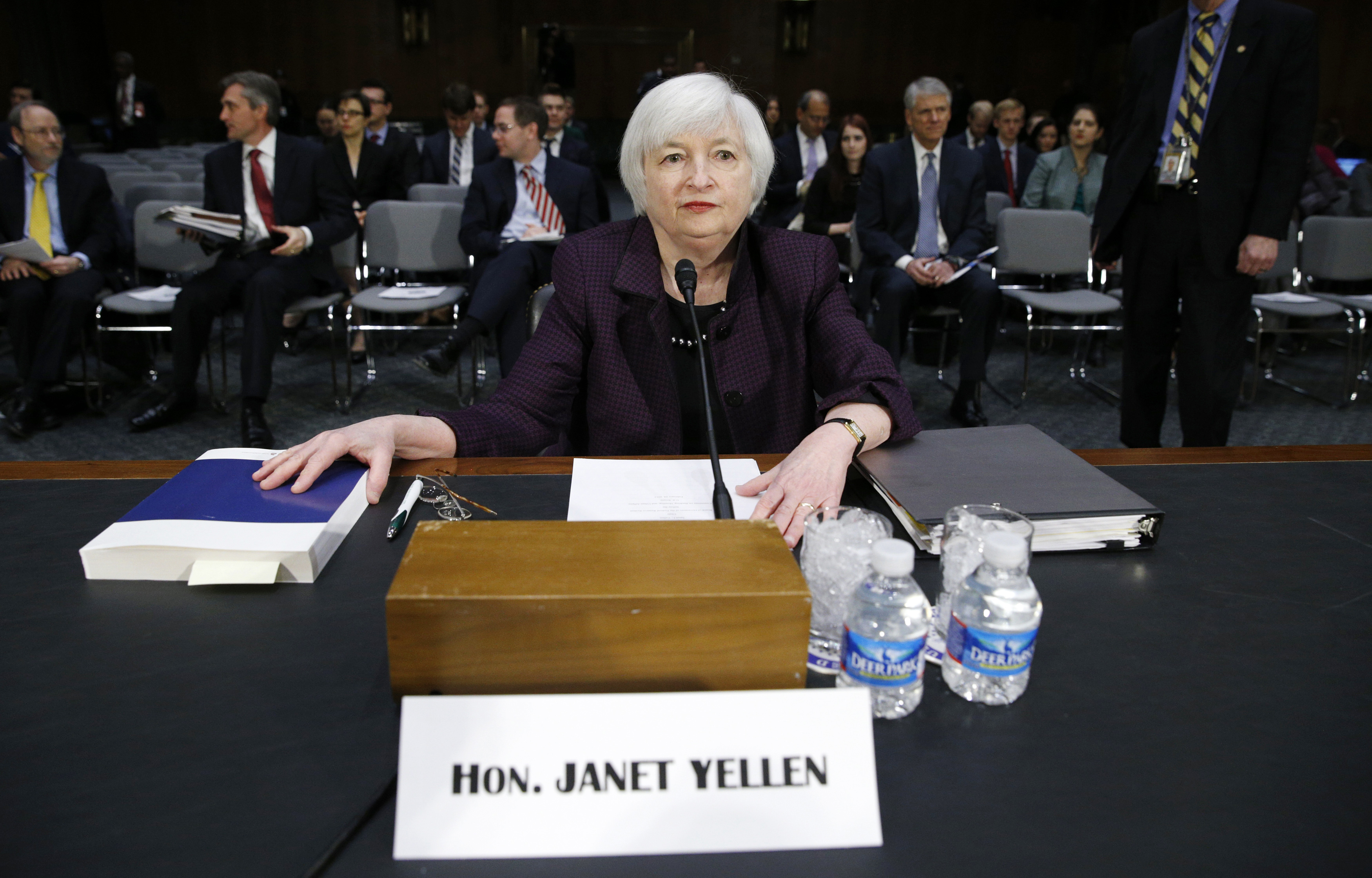 Janet Yellen testifies on Capitol Hill in Washington