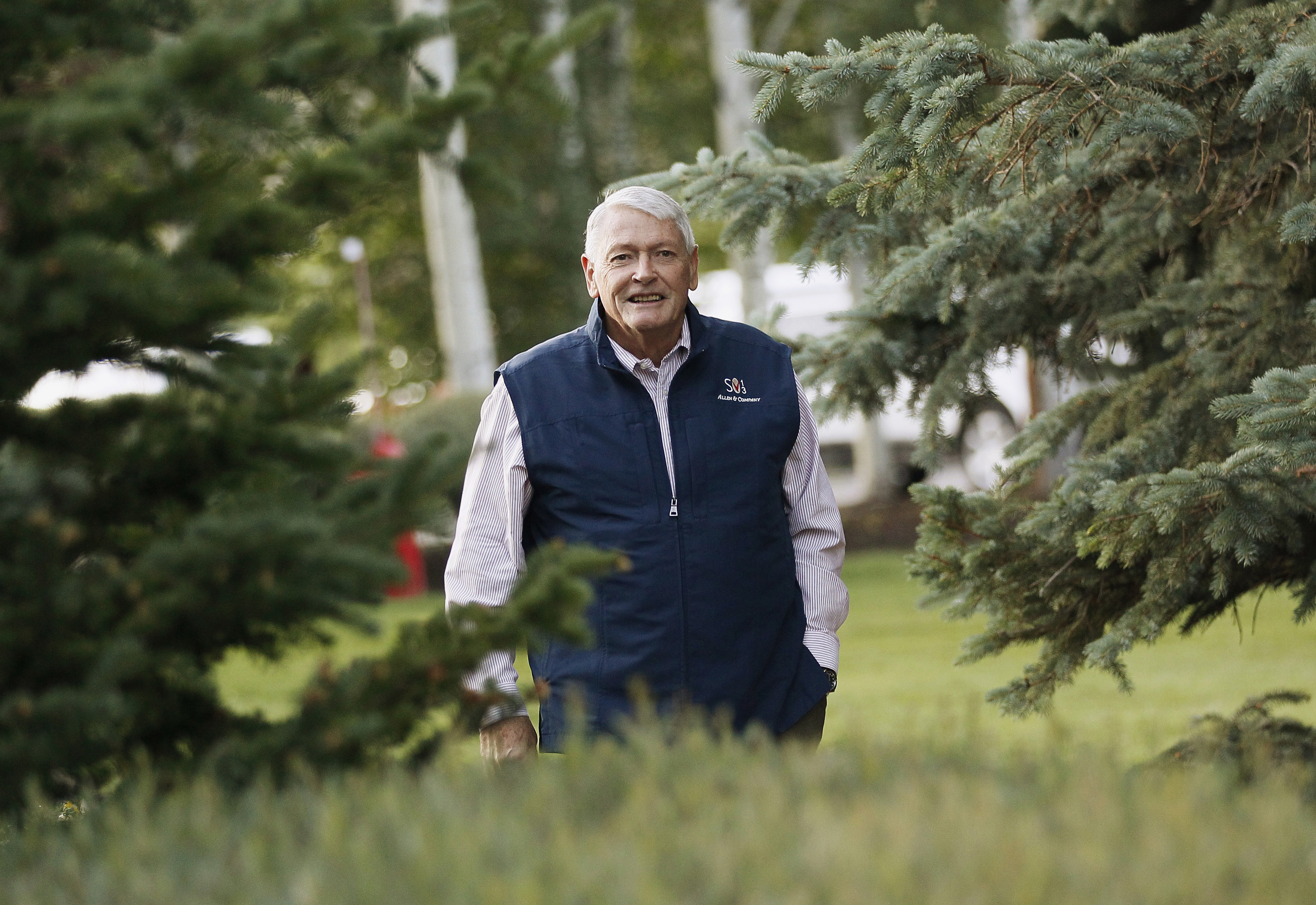 Liberty Media Corp. chairman Malone arrives at the annual Allen and Co. conference at the Sun Valley