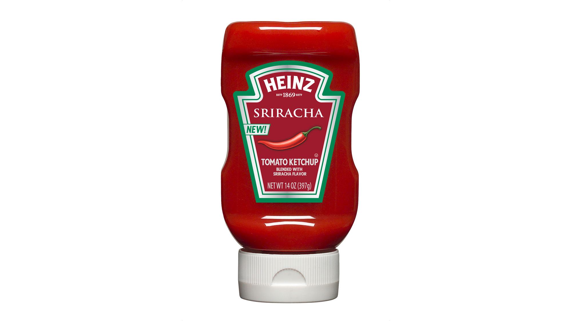 Heinz Tomato Ketchup Blended with Sriracha Flavor.