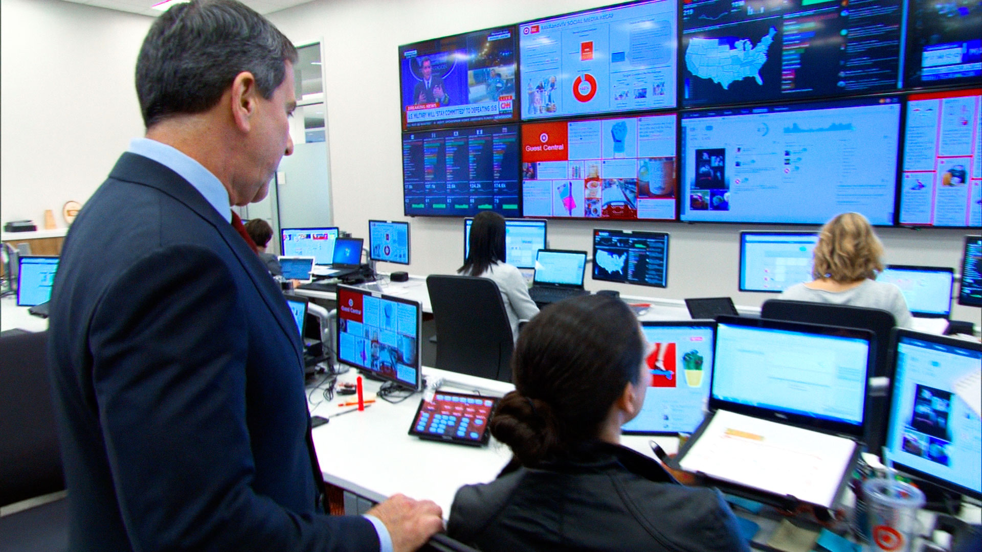 The data-monitoring hub at Target's headquarters