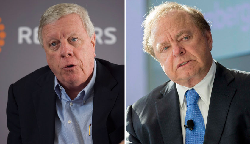 Richard Kinder, left and Harold Hamm.