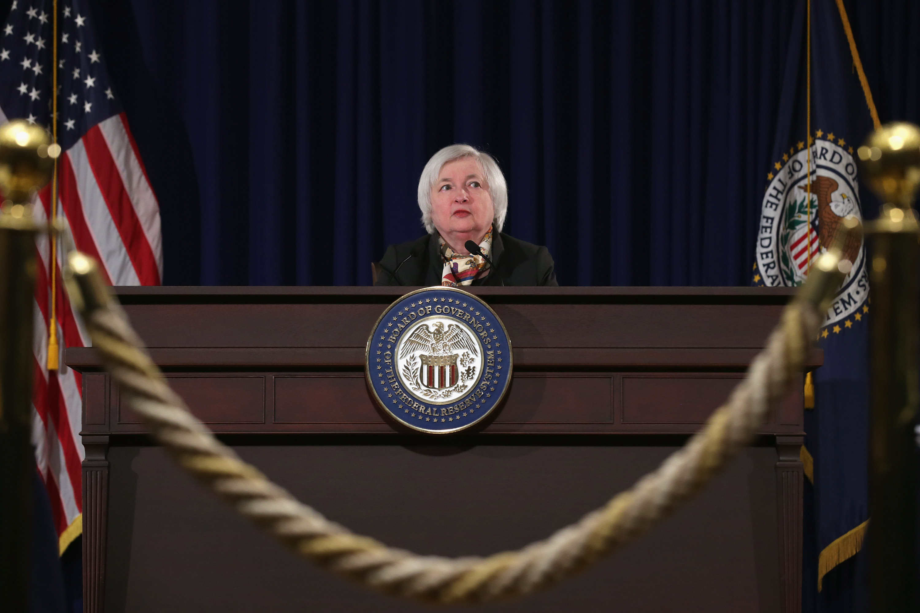 Janet Yellen Holds Press Conference On Interest Rates