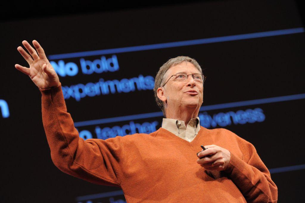 Bill Gates at TED 2011.