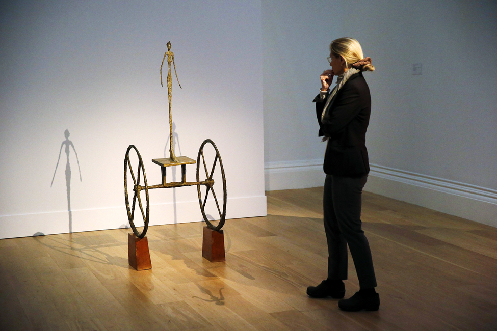 "Alberto Giacometti's ""Chariot"", Sotheby's"