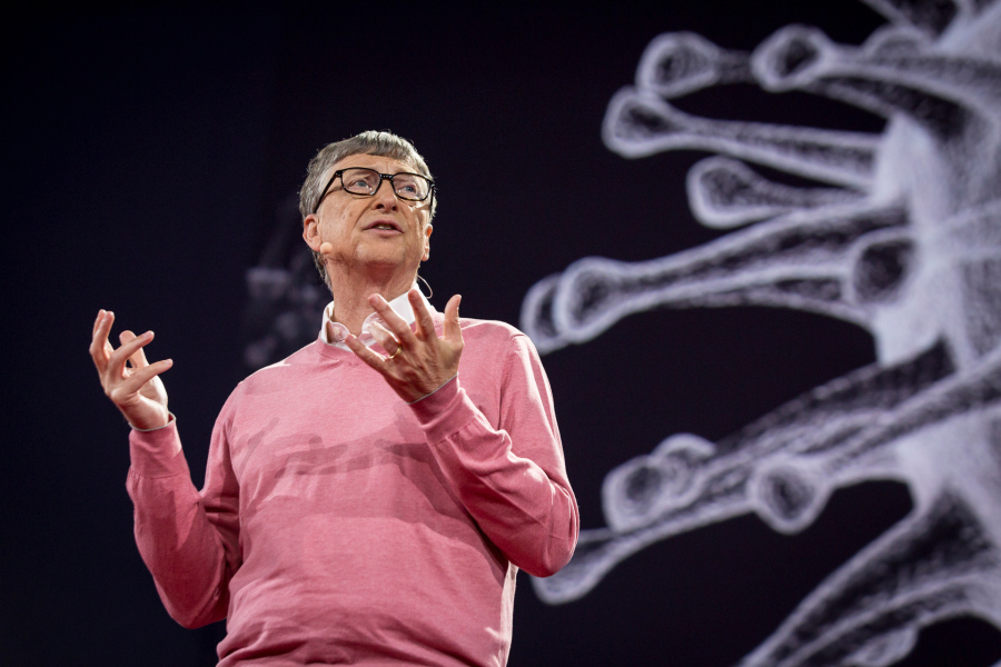 Bill Gates speaks at TED2015 - Truth and Dare, TED University, March 16-20, 2015, Vancouver Convention Center, Vancouver, Canada. Photo: Bret Hartman/TED