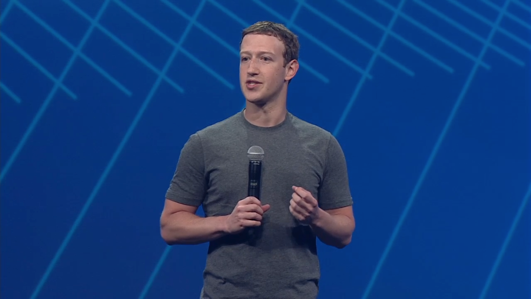 Facebook CEO Mark Zuckerberg at the company's 2015 F8 developers conference.