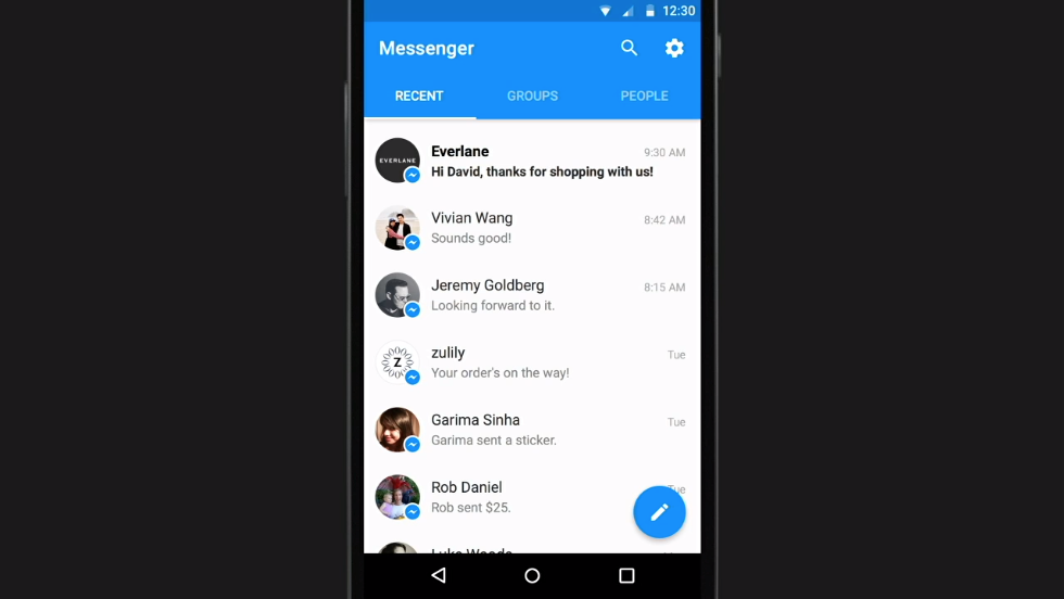 Facebook Messenger Platform Everlane app