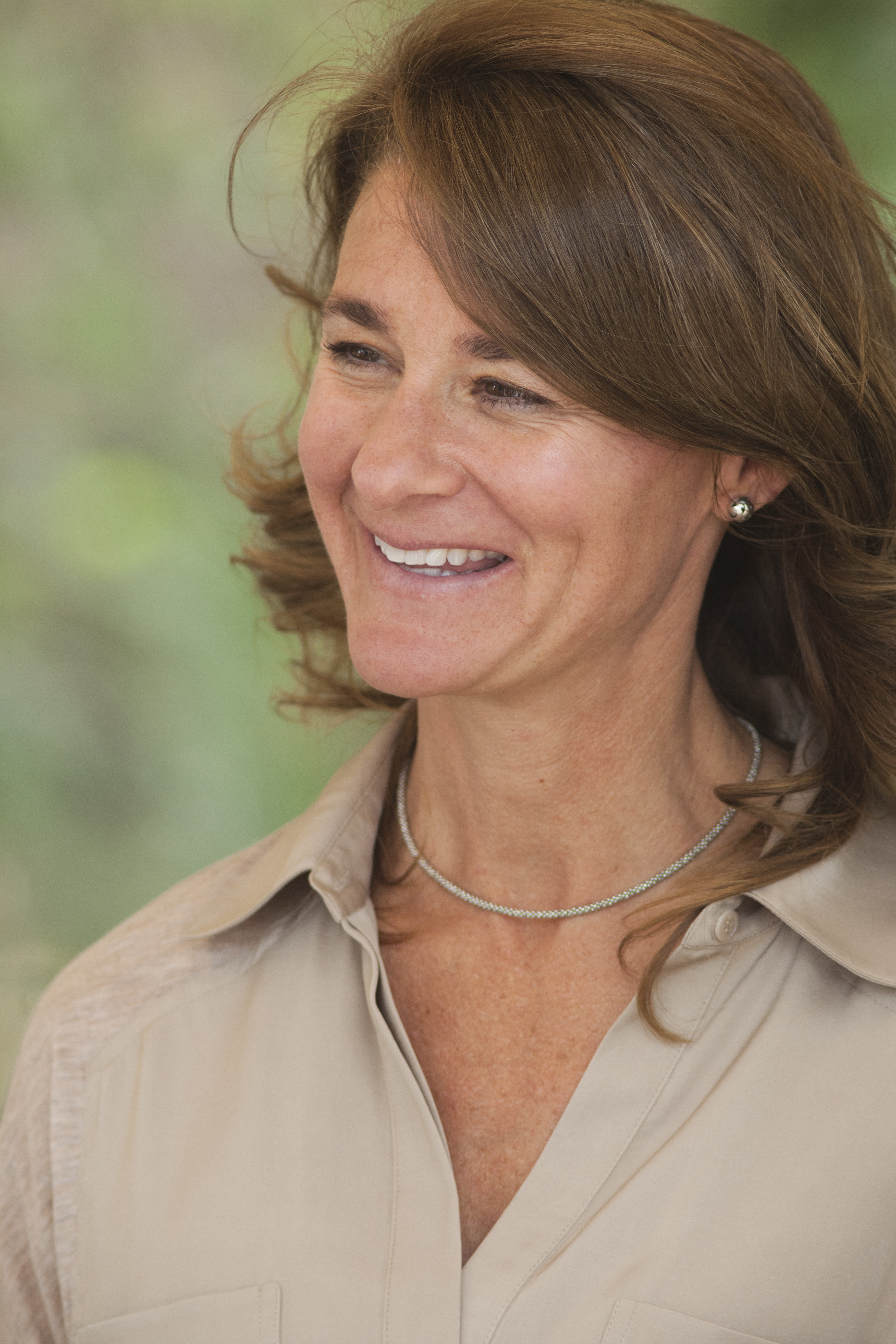 Melinda Gates during a visit to AGRA and Farm Concern commercial farm in Mbuguni, Tanzania on September 26,2012.