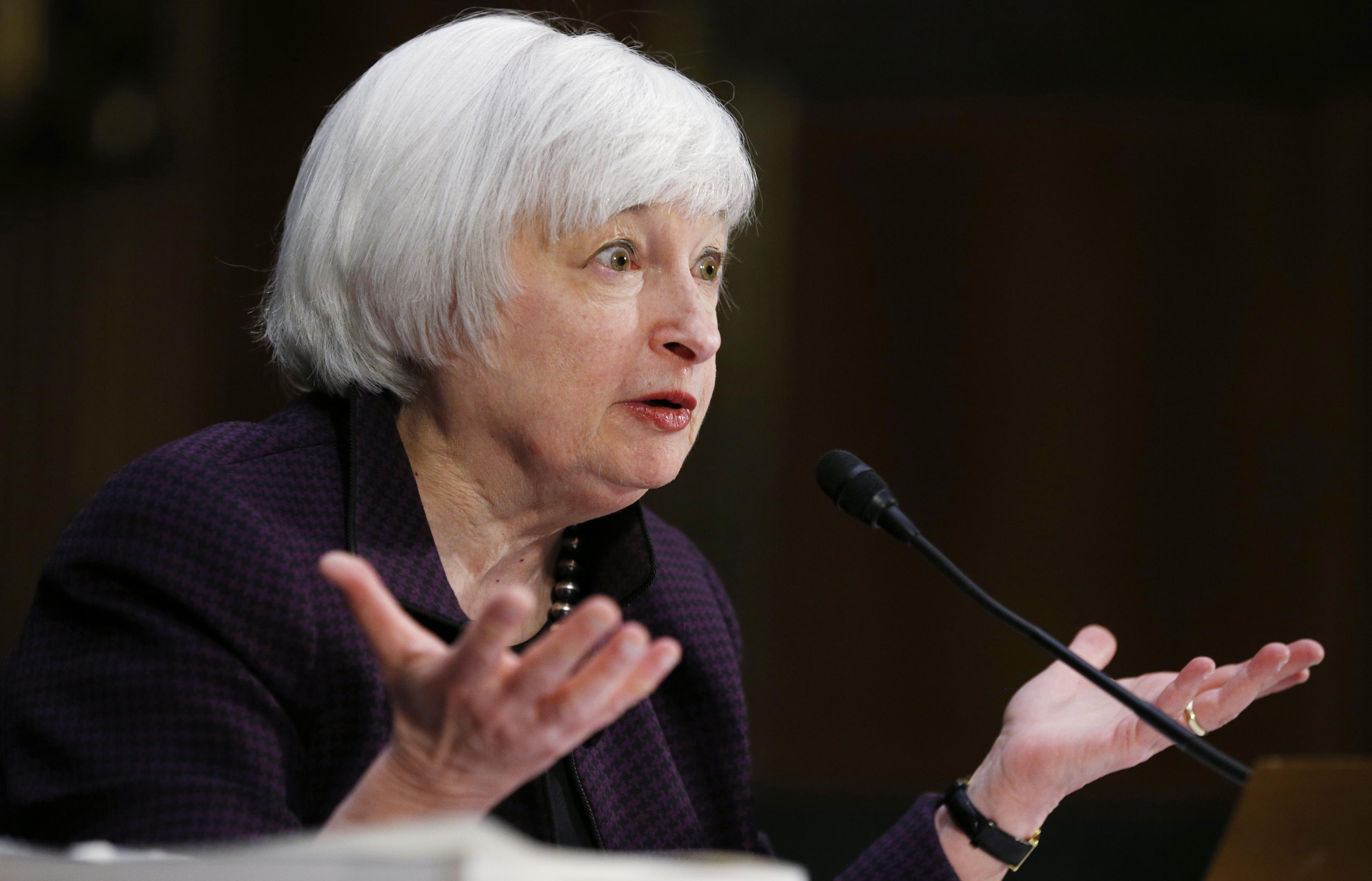 Janet Yellen testifies on Capitol Hill in Washington