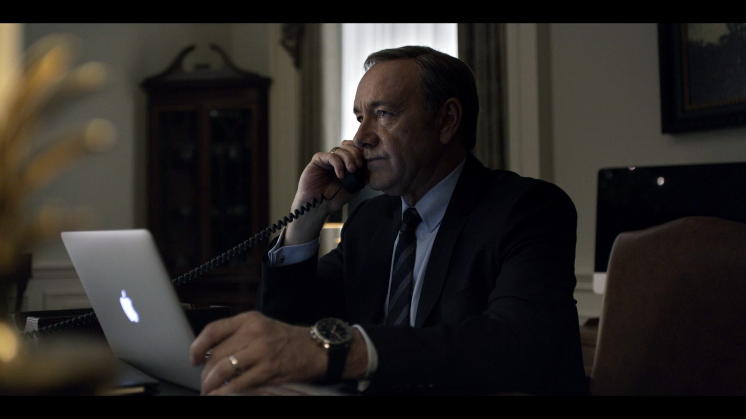 President Frank Underwood, played by Kevin Spacey in the Netflix Original Series 'House of Cards'