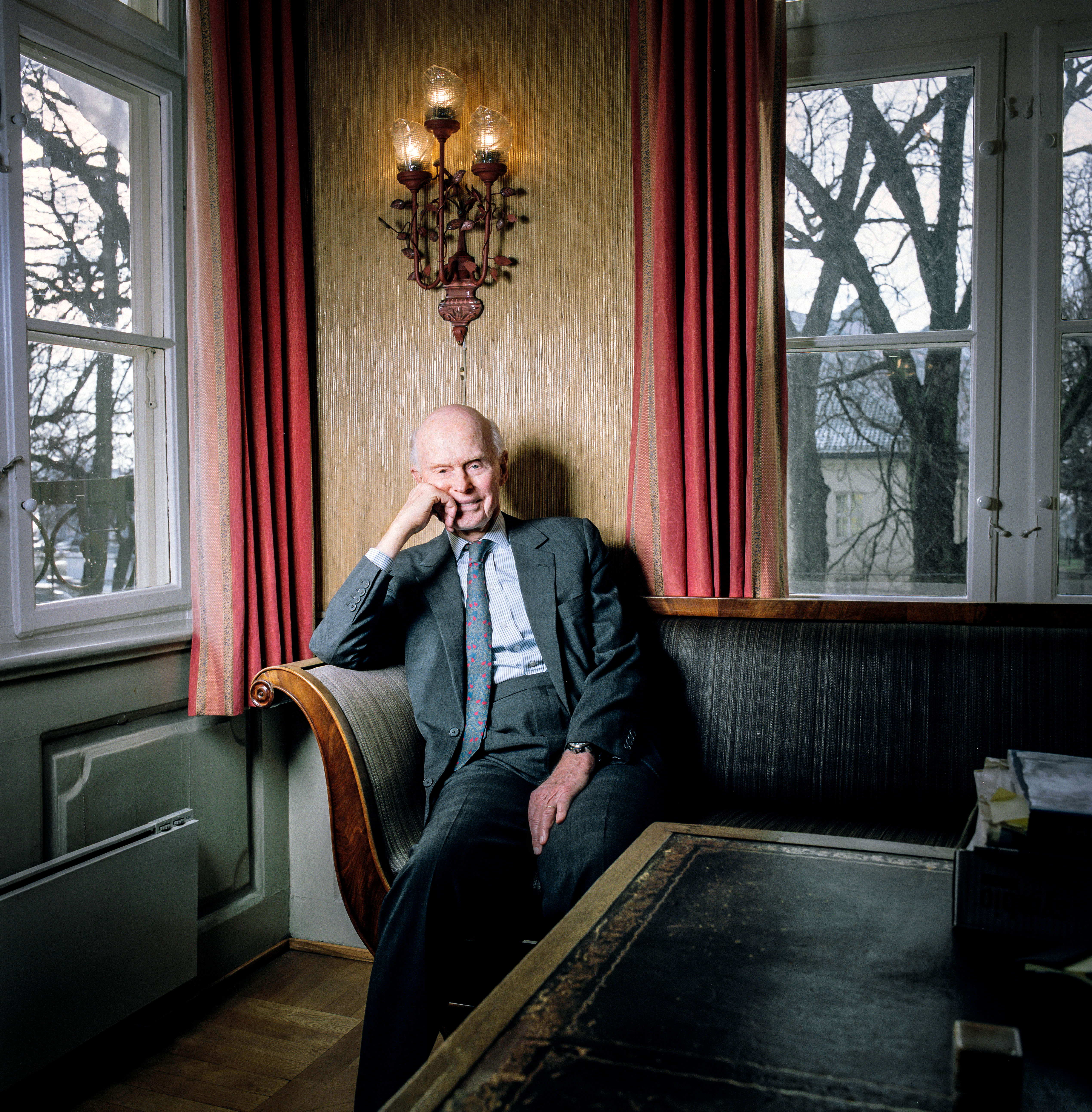 Olsen in his office in downtown Oslo. His family's shipping empire dates back to 1848.