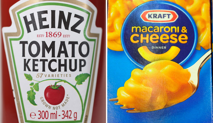 Heinz Ketchup/Kraft Macaroni and Cheese split