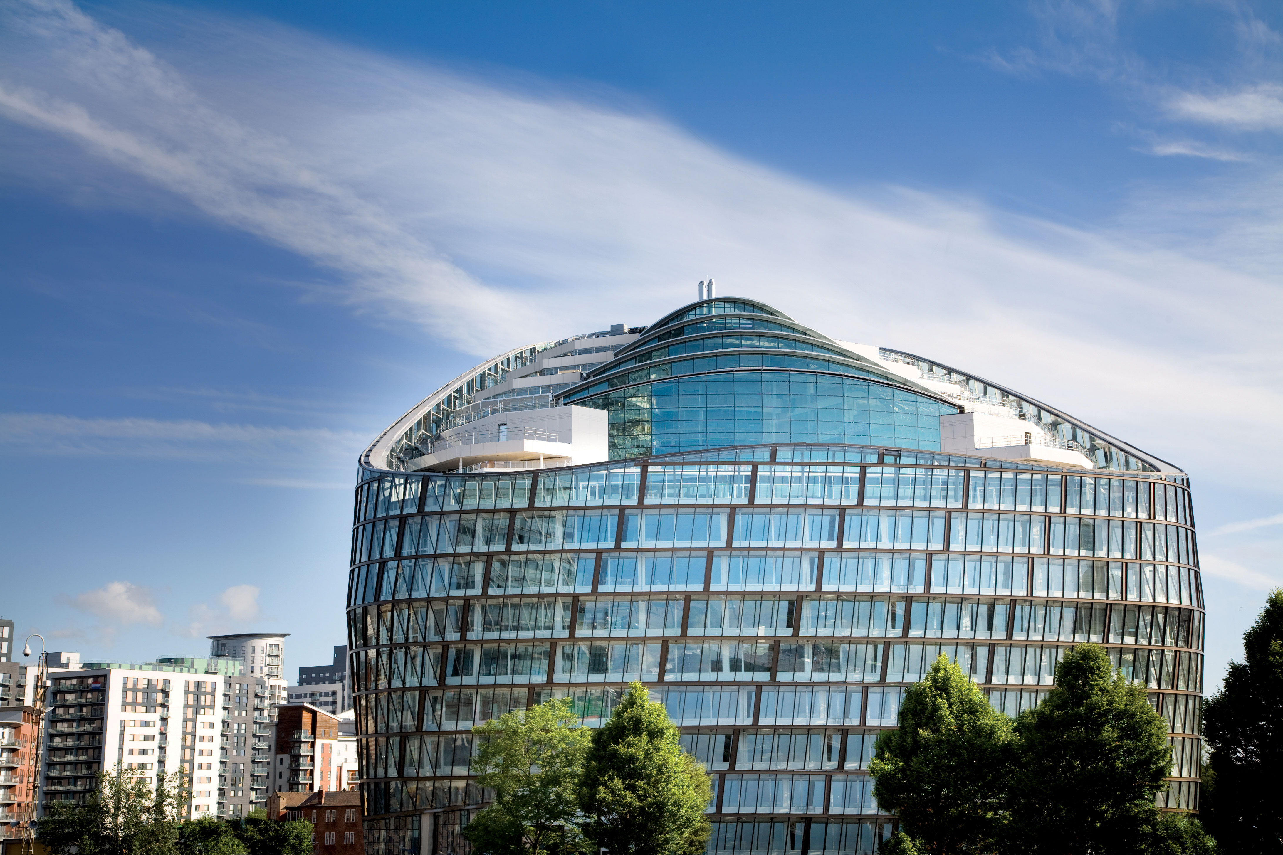 """1 Angel Square in Manchester, England has been promoted as the most """"environmentally friendly"""" office complex in the world."""