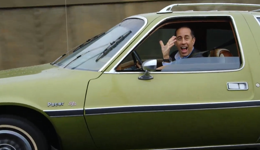"Jerry Seinfeld in ""Comedians in Cars Getting Coffee."""