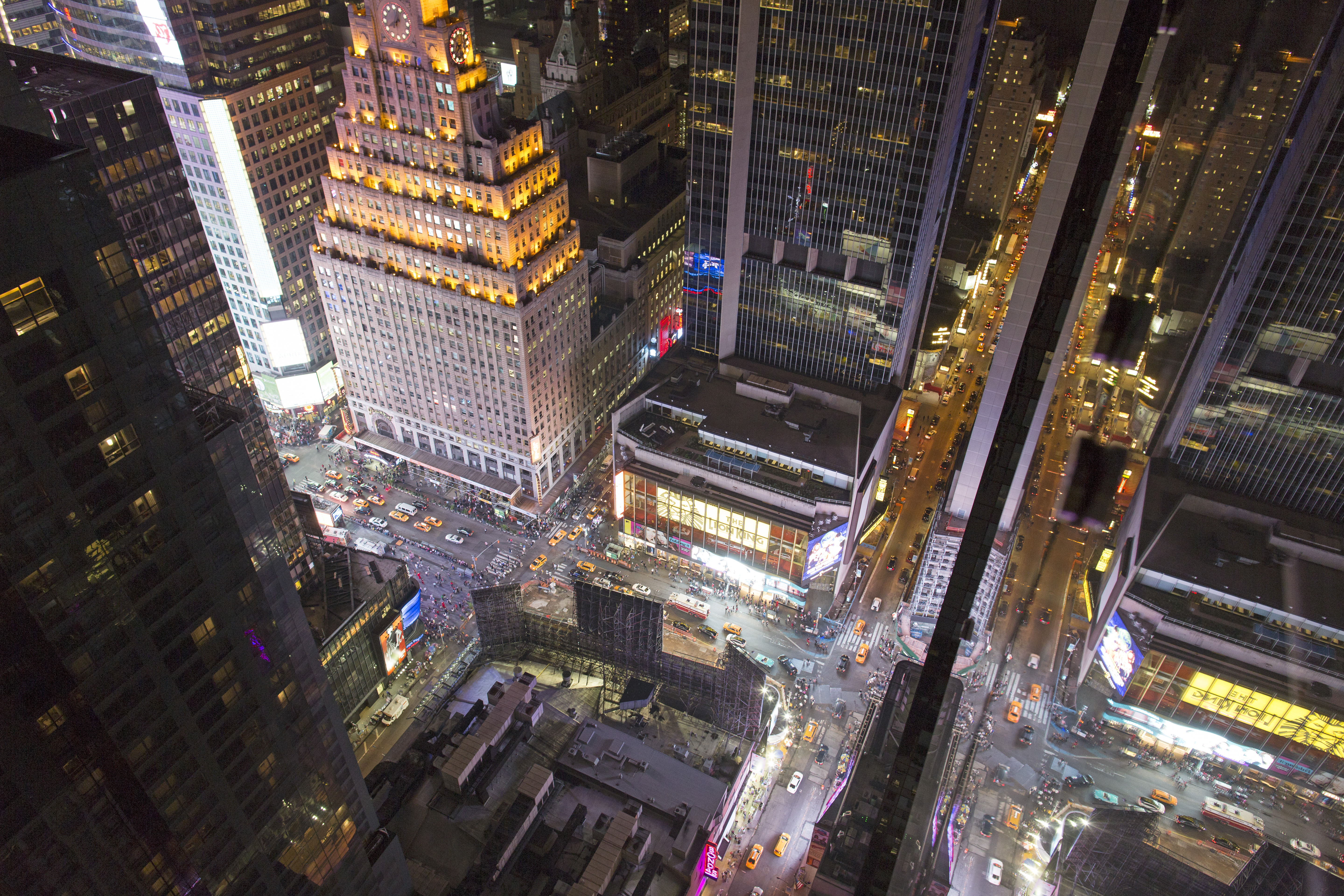 View From The Rooftop Bar 54 In Manhattan