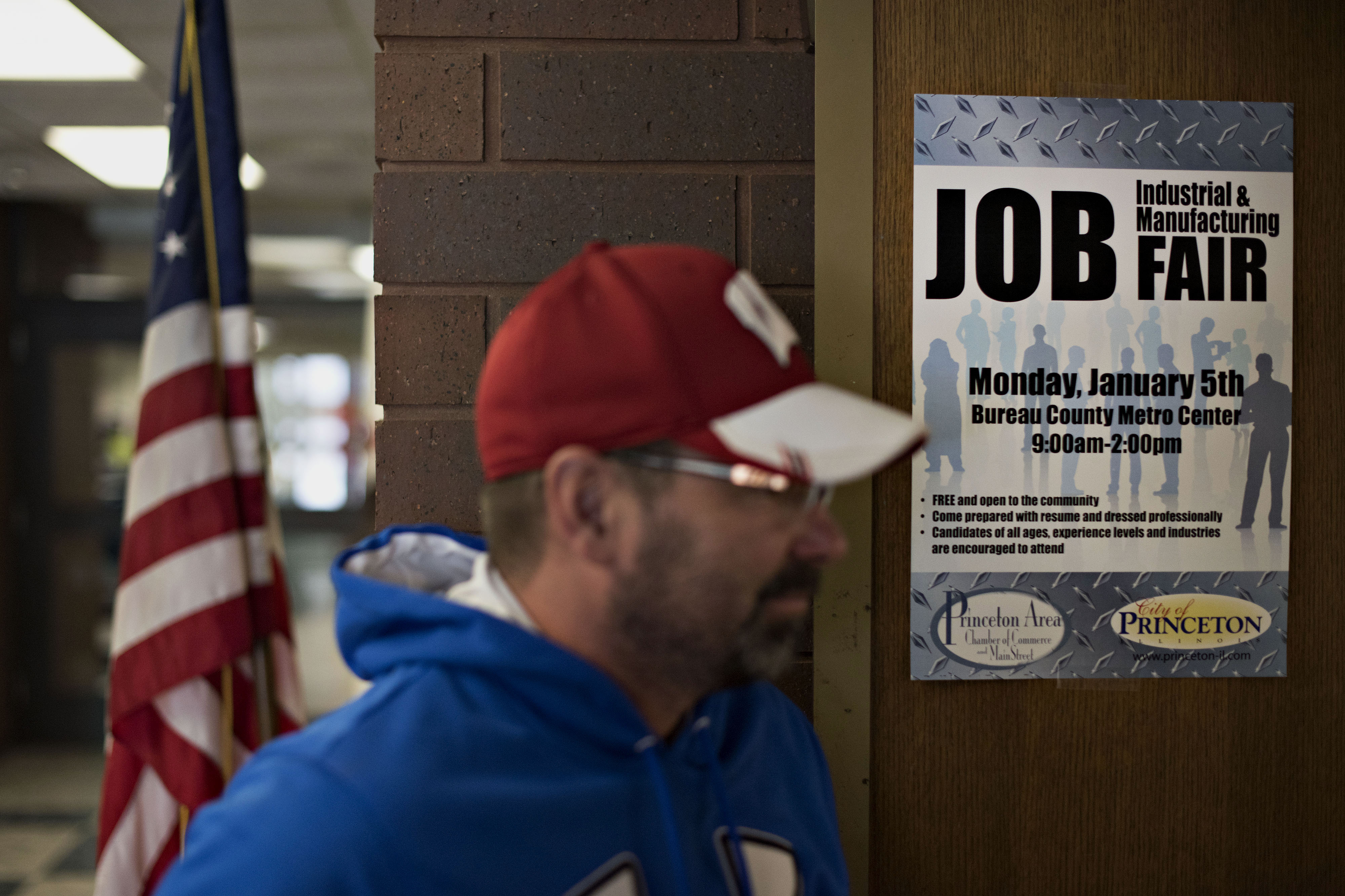Job Seekers Attend A Princeton Area Chamber of Commerce Career Fair Ahead Of Initial Jobless Claims