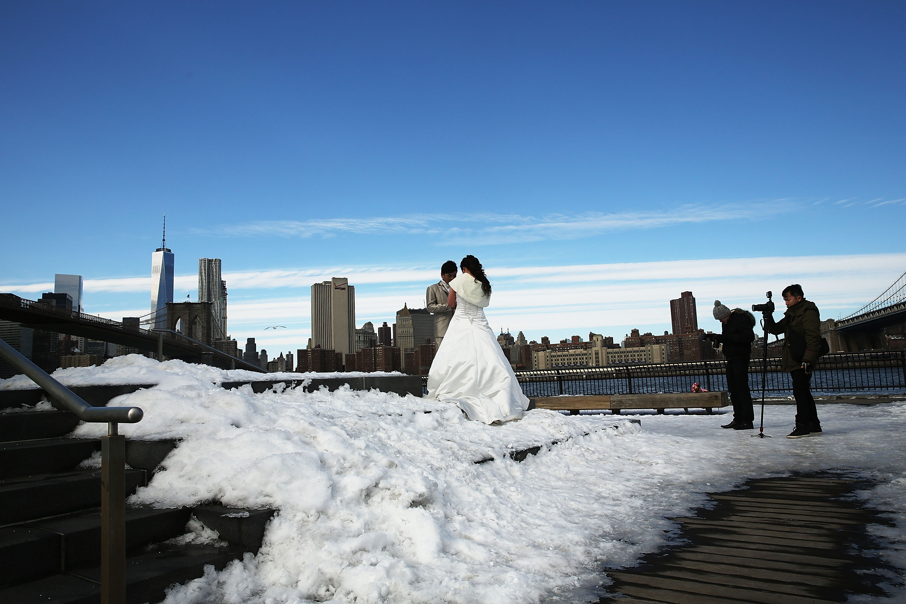Frigidly Cold Weather Continues To Chill New York City