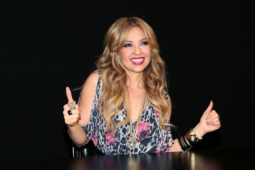 Thalia attends the launch of the Thalia Sodi Collection at Macy's Herald Square in March