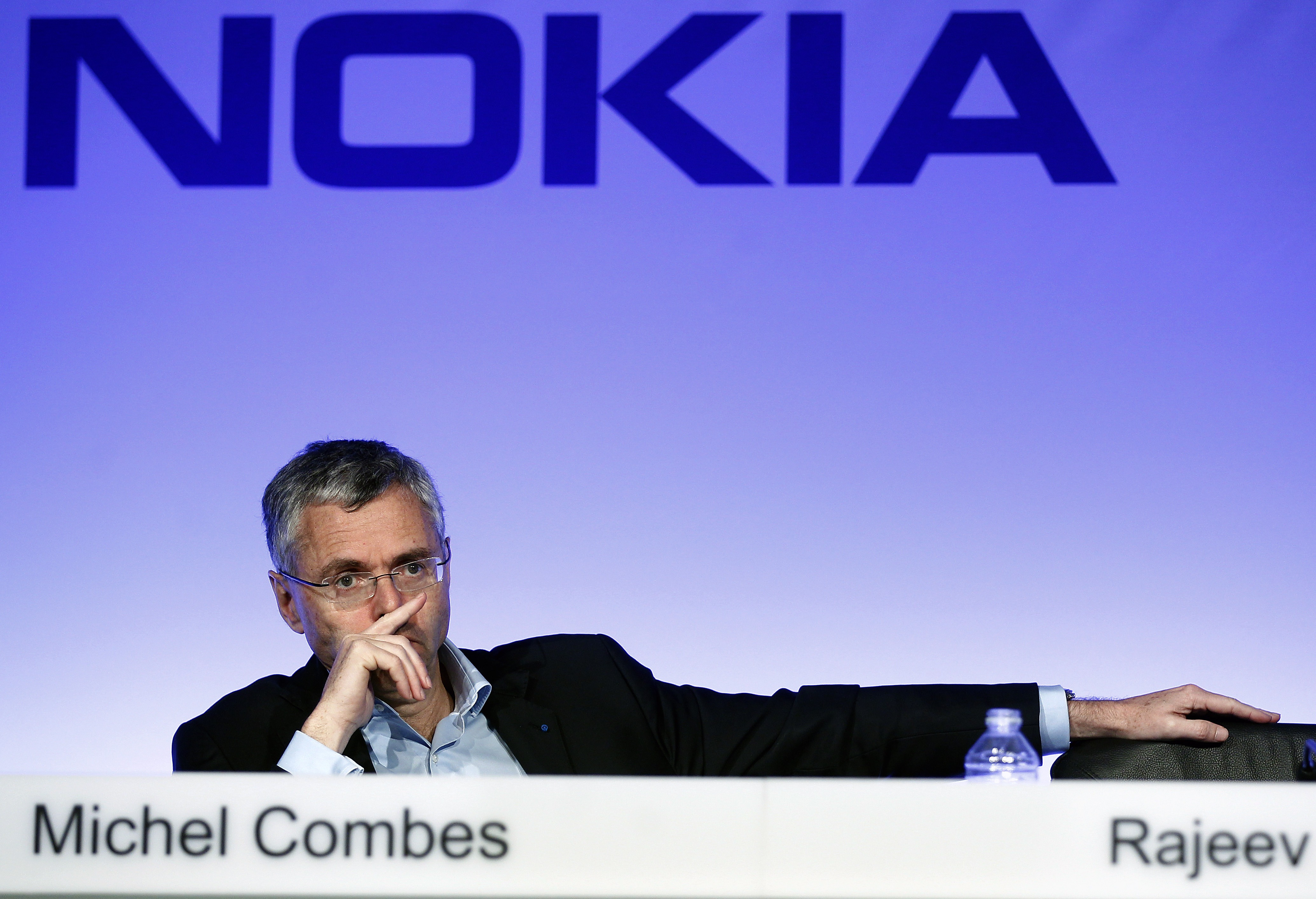 Nokia And Alcatel-Lucent hold  A Press Conference At Pavillon Gabriel In Paris