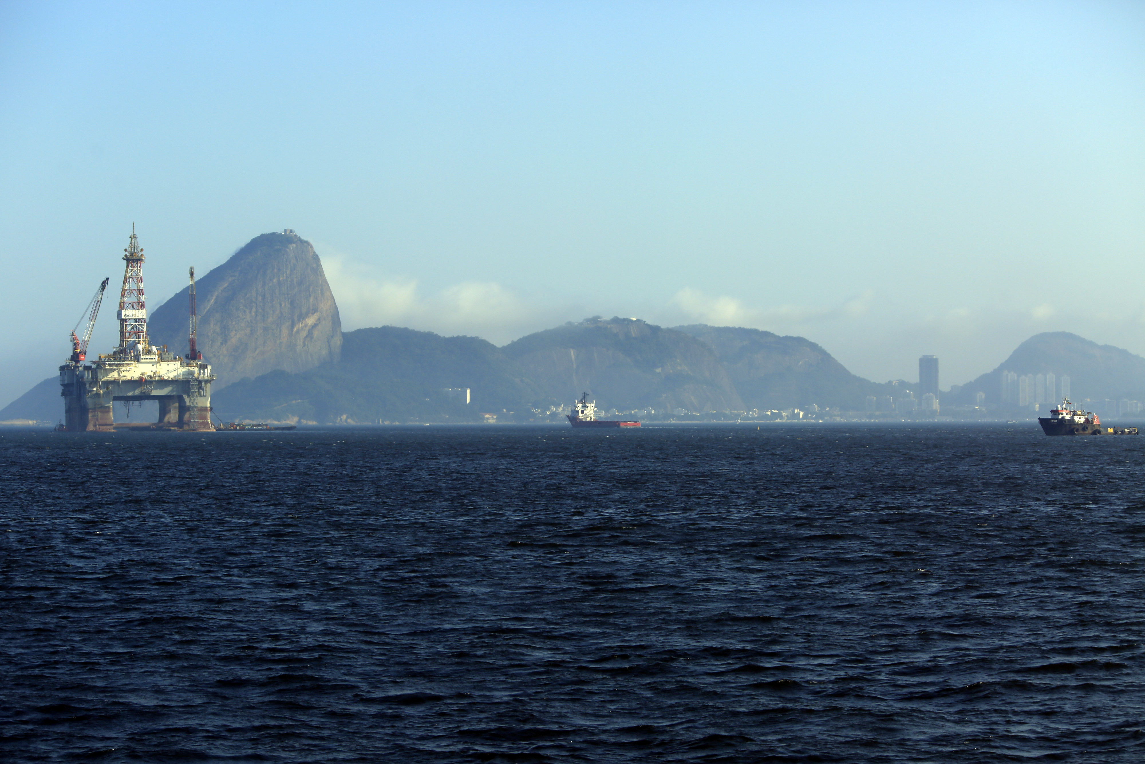 Views Of Oil Platforms in Guanabara Bay Ahead of Petrobras Earnings Results