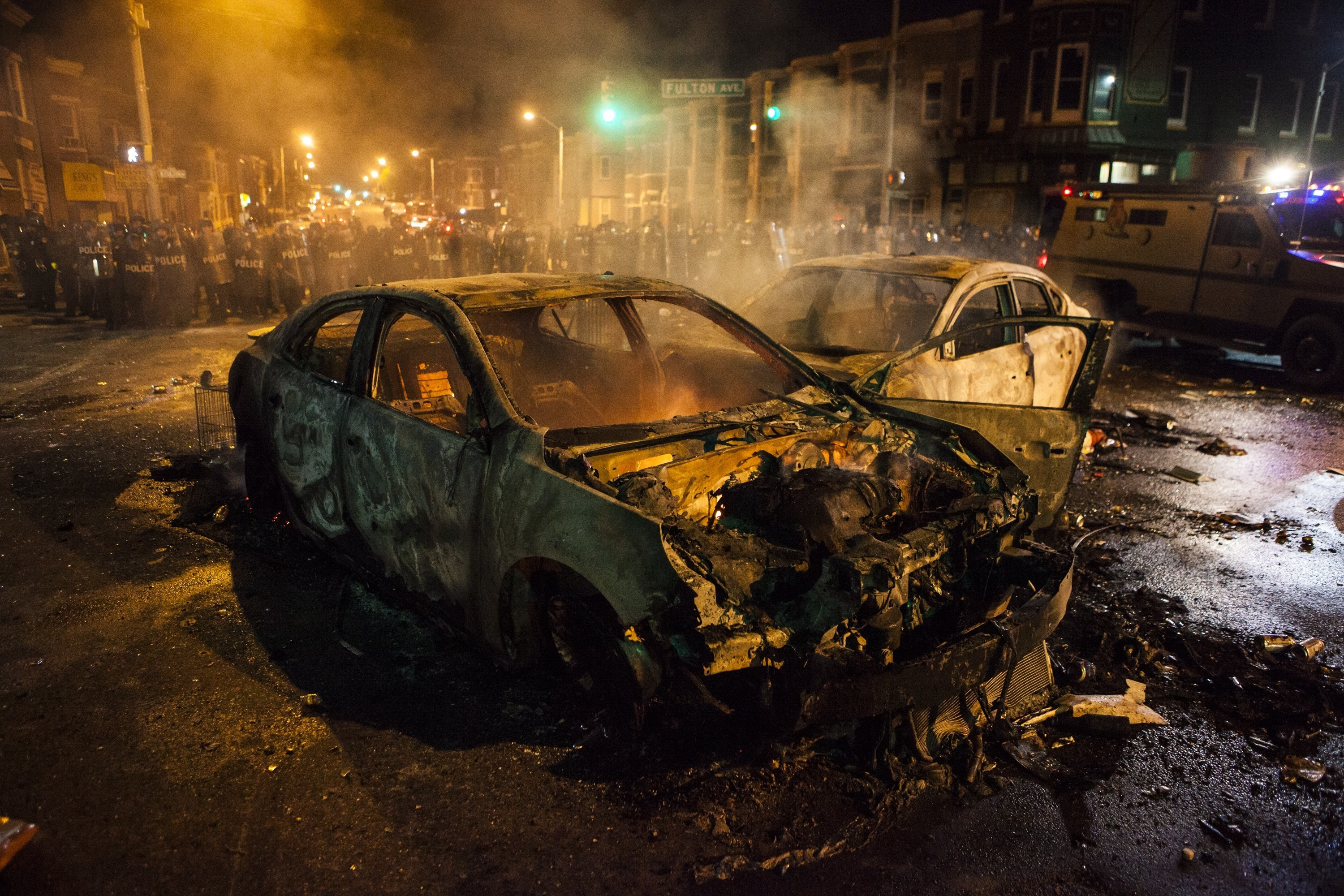 Clashes in Baltimore over death of Freddie Gray