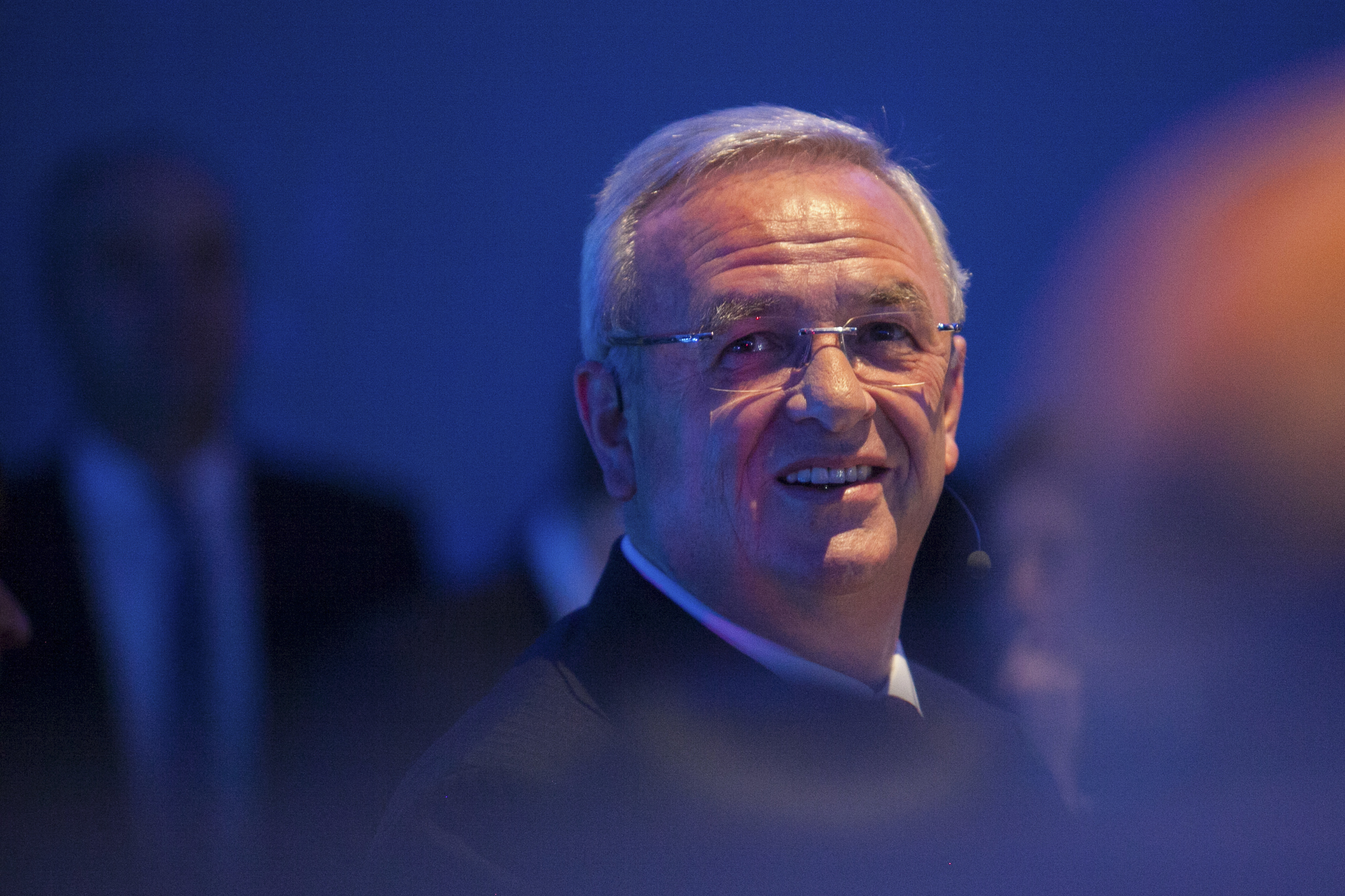 Volkswagen Group Forum DRIVE opens in Berlin. Opening event. Dr. Martin Winterkorn CEO VW Group, near the  stage  before the opening ceremony.  Berlin. Germany. 28.14.2015. Photo: Krisztian Bocsi