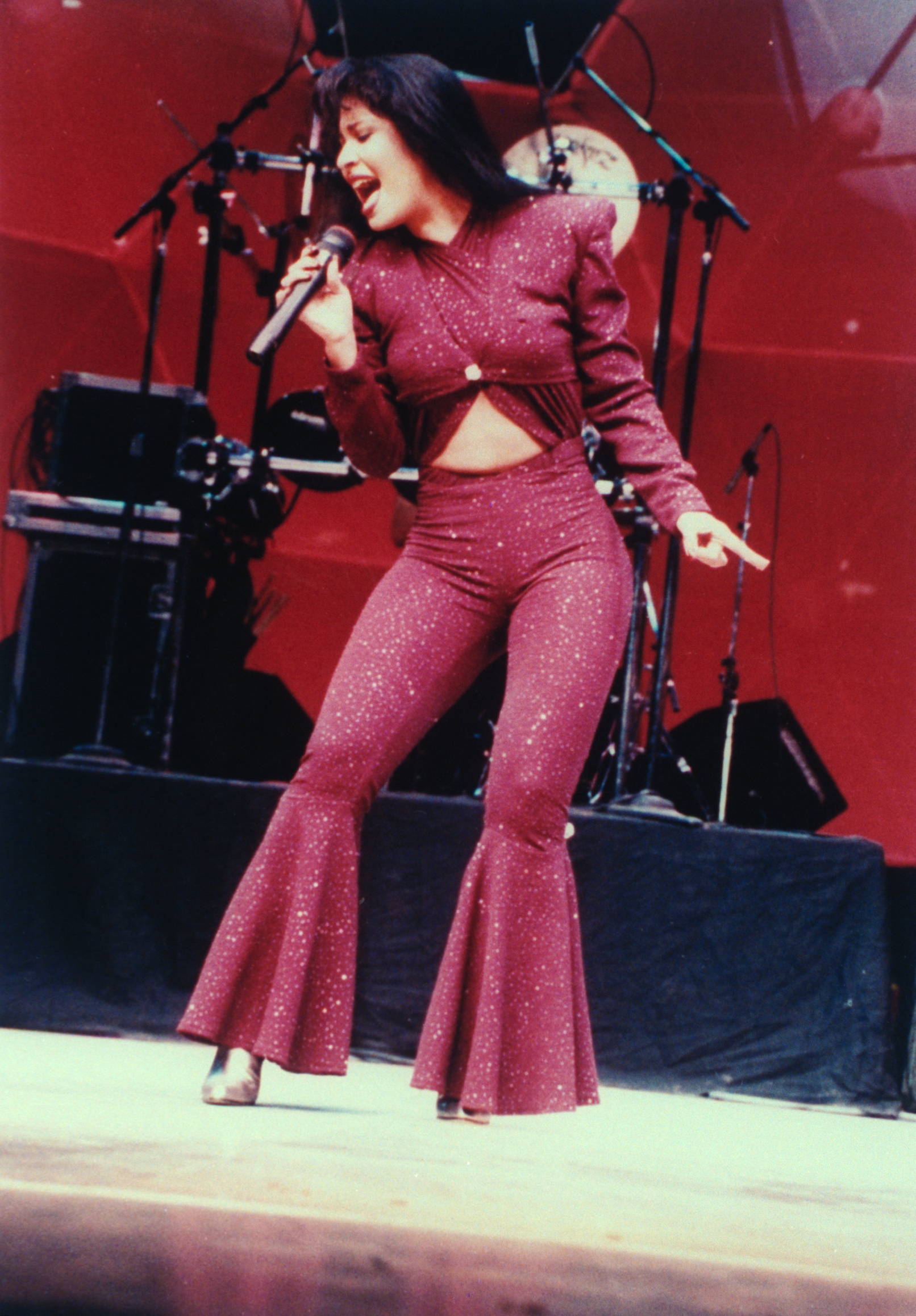 Singer Selena performing in concert onFebruary 26, 1995.