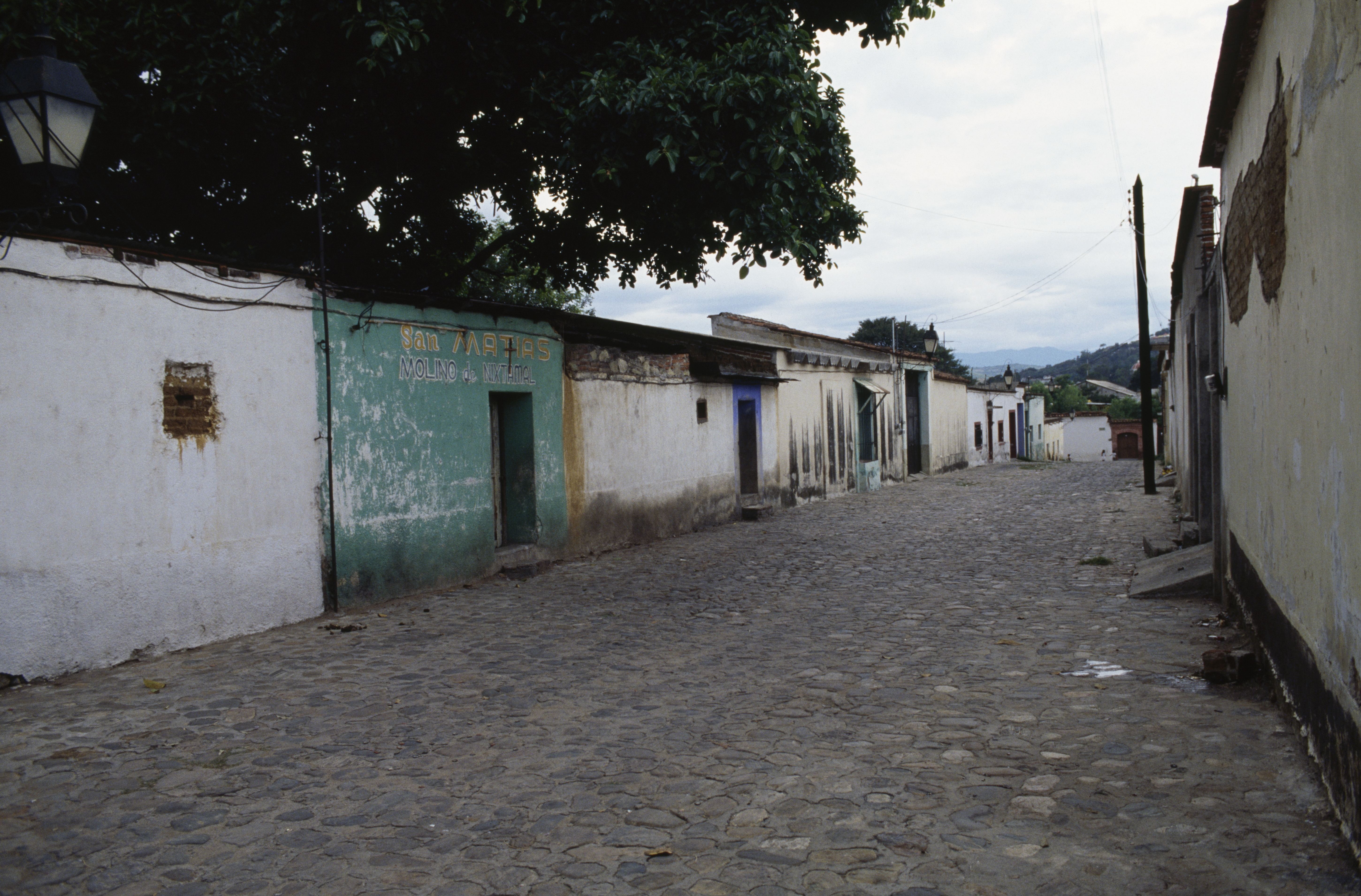 A street on outskirts of Oaxaca de Juarez