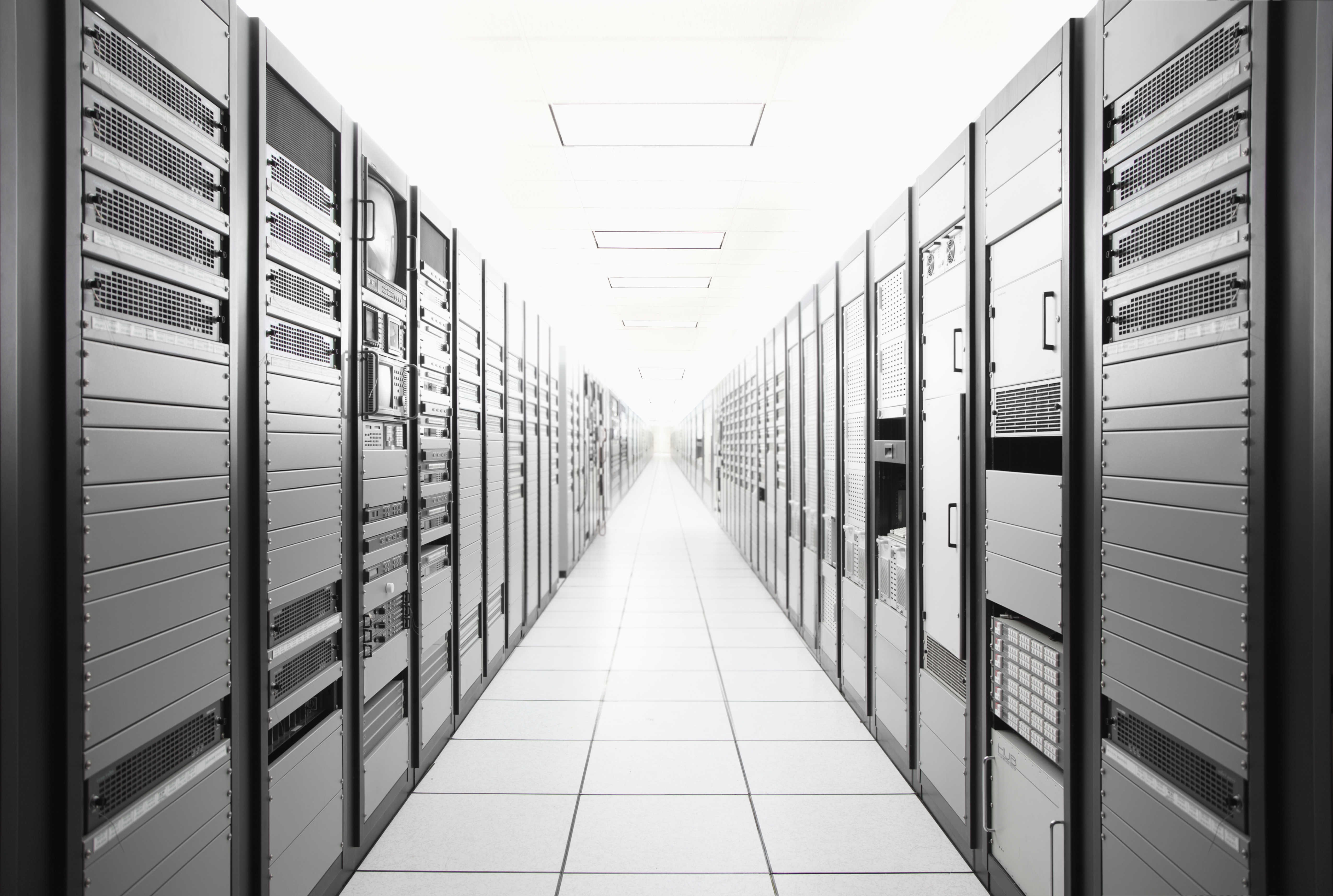 Room of computer servers