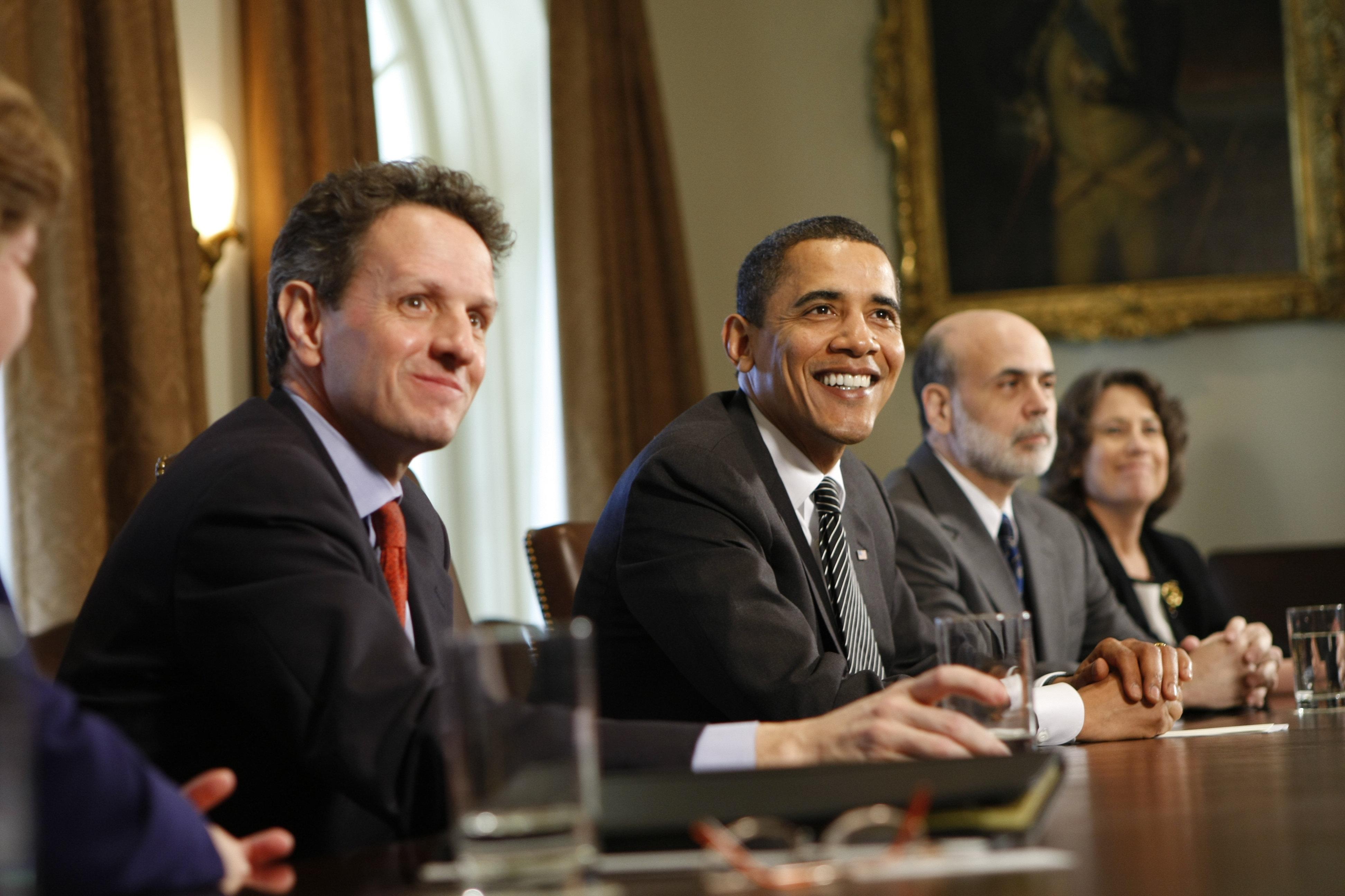Barack Obama, Timothy Geithner, Ben Bernanke, Sheila Bair