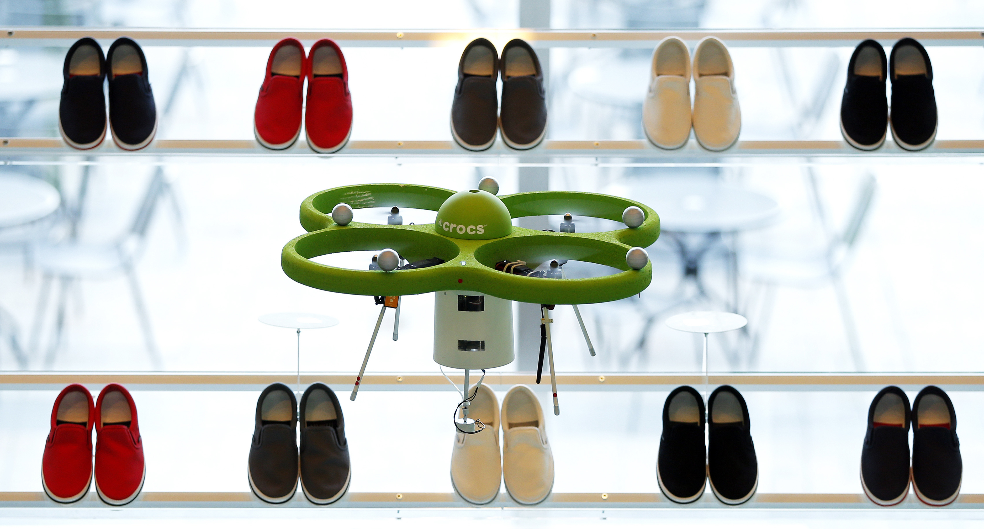 Crocs Japan GK Opens World's First Aerial Store With Drones